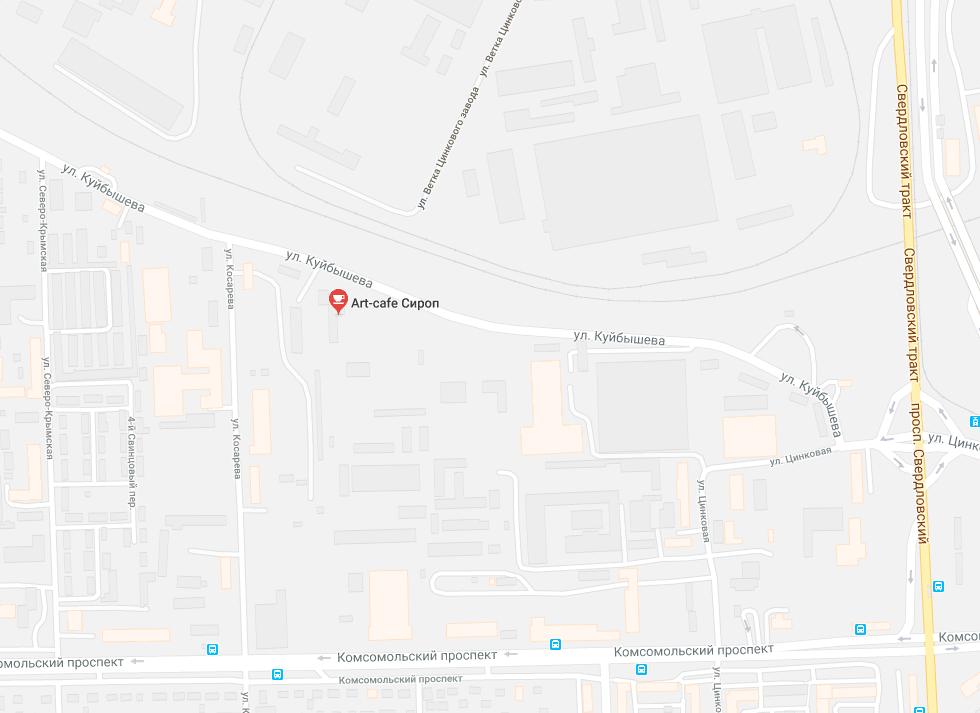 Карта проезда к кафе-арт Сироп